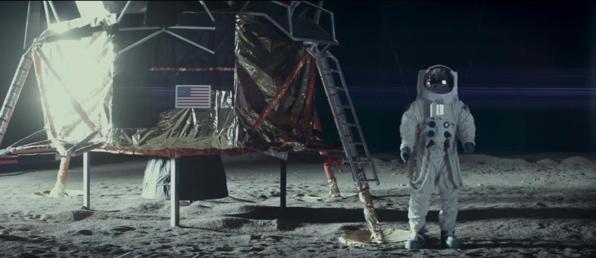 moonwalkers on the moon